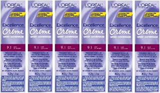 L'Oreal Excellence Creme 9.1 Light Ash Blonde Hair Tint HC-06214 (6 Pack)