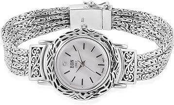 EON 1962 Swiss Movement Water Resistant Ladies Watch in 925 Sterling Silver