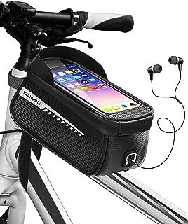 Kemimto Bike Phone Front Frame Bag, Top Tupe Bike Bag Cycling Waterproof Bicycle Phone Bag with...