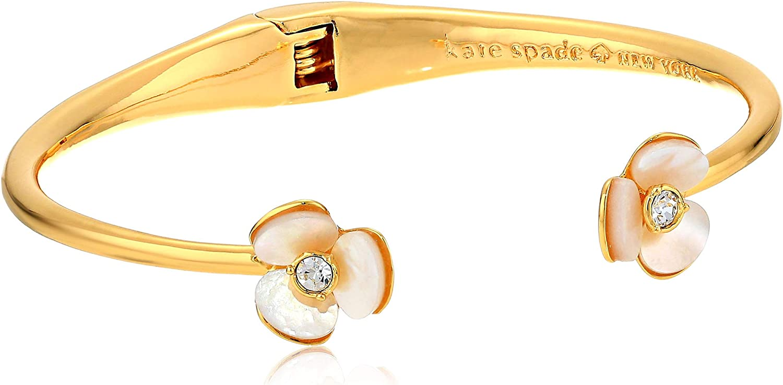 Kate Spade New York Women's Disco Pansy Thin Cuff Bracelet