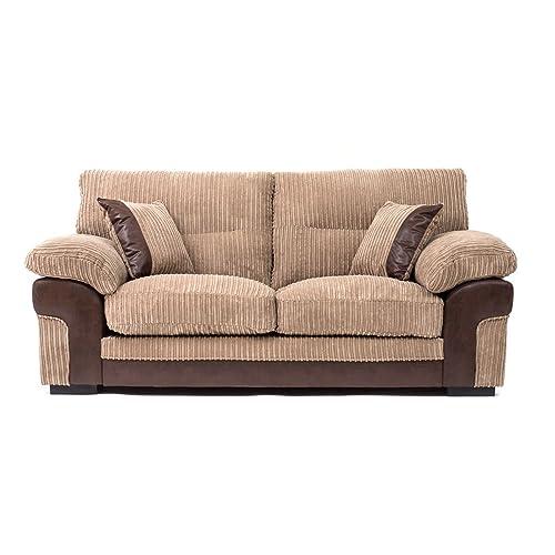 Brown Fabric Sofa: Amazon.co.uk