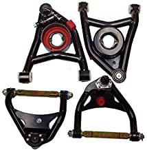 A-Team Performance Upper and Lower Tubular Control Arms Compatible with 68-72 Chevelle Monte Carlo GTO A-Body Heavy Duty Black