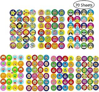 Pegatinas de Alabanza,70 Hojas Estudiante Alabanza Pegatina Well Done Star Reward Sticker para Niños Maestros Padres Manualidades Scrap Books Decoración