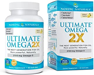 Nordic Naturals - Ultimate Omega 2X, Supports Heart, Brain, and Immune Health, 60 Soft Gels