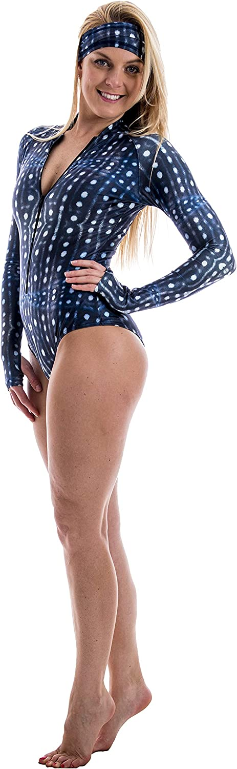 Slipins Zippered Long Manufacturer regenerated product Sleeve Swimsuit Our shop OFFers the best service Mini SurfSkin with UV Prot