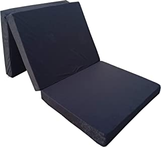Natalia Spzoo Cama de invitados, colchón plegable 198 x 80 x 10 cm (Negro)