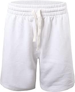 ProGo Men's Classic Fit Casual Fleece Jogger Gym Workout Short Pants with Elastic Waist