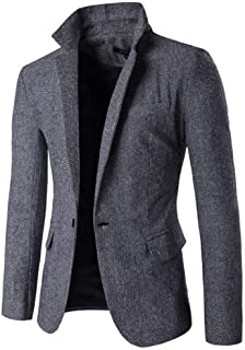 Blazer Men's Blazer 1 Wedding Button Elegant Tuxedo Simple Estilo Slim Fit Men's Suit Jacket Lapel Long Sleeve Suit Jacket...
