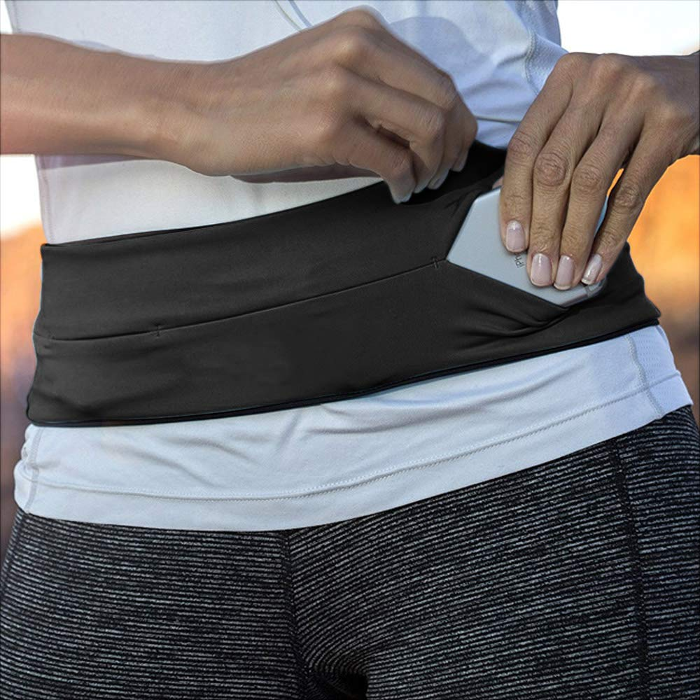 Dual Pocket Running Belt Compatible with iPhone 11//X//8//7//6//6sPlus Samsung Galaxy 10//S8//S7 Edge Breathable Sport Fitness Belt Pouch for Marathon Jogging ZIONOR Running Belt Waist Bag for Women Men