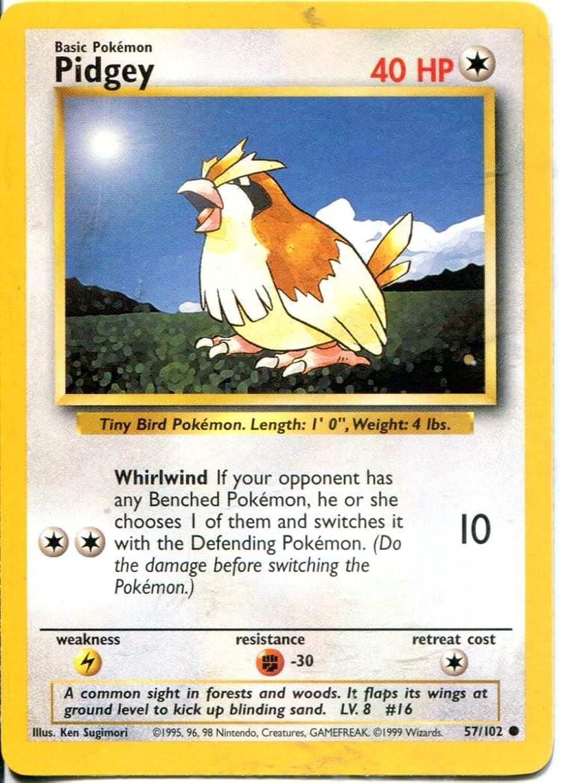Pokemon Base Set Common Card  57 102 Pidgey B00R66FAN8 Luxus    Shop Düsseldorf