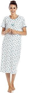 Camille Chemises de Nuit Fleuries /à Manches Longues pour Femmes