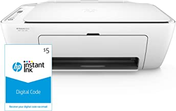 HP DeskJet 2655 All-in-One Compact Printer, HP Instant Ink & Amazon Dash Replenishment ready - White (V1N04A) and Instant Ink $5 Prepaid Code