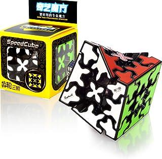 QY Toys 3x3 Gear Cube 3x3x3 Speed Magic 3D Gear Puzzle Cube de Vitesse Magique Noir