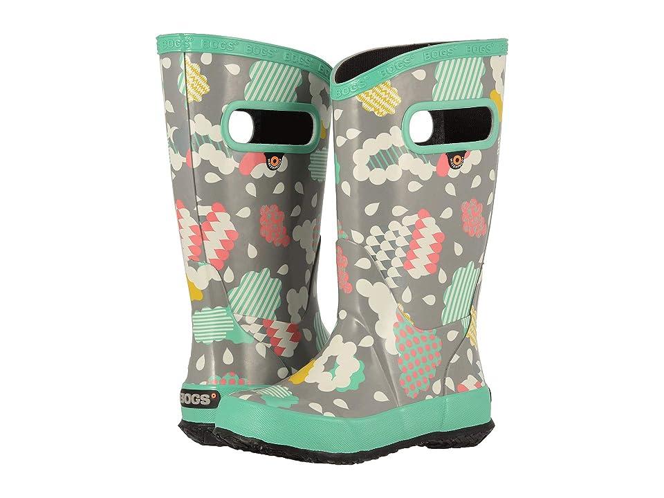 Bogs Kids Rainboot Clouds (Toddler/Little Kid/Big Kid) (Gray Multi) Girls Shoes