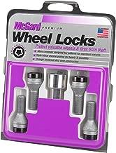 McGard 27316 Cone Seat Style Wheel Lock Bolts, Chrome/Black, 4 Locks, 1 Key M12x1.25