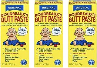 Boudreaux's Butt Paste Diaper Rash Ointment, Original, 2 Oz, Pack of 3