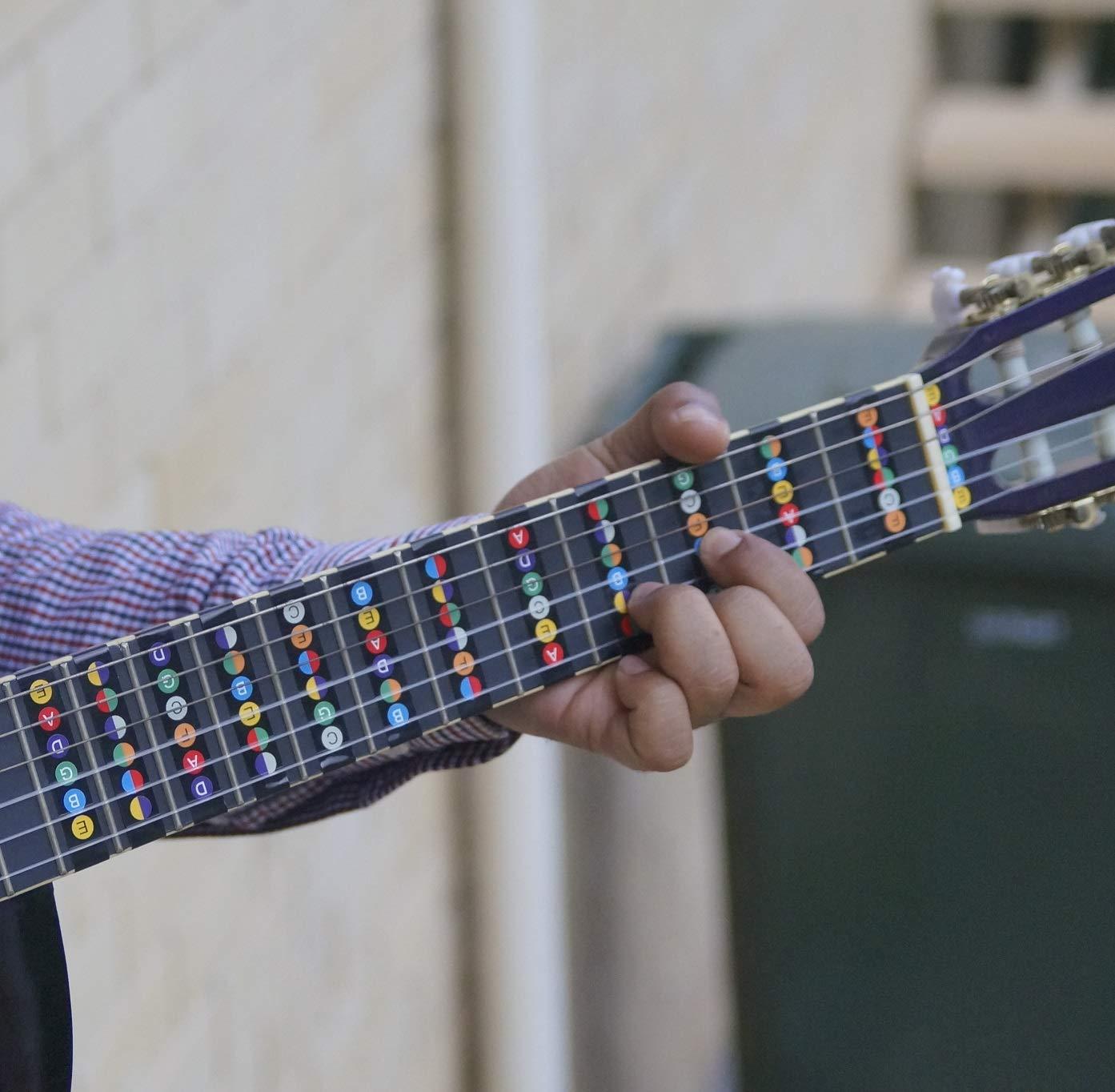 Tabla de notas para guitarra [Mapa trasero para principiantes ...