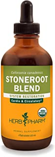 Herb Pharm Certified Organic Stoneroot Blend Liquid Extract for Cardiovascular and Circulatory Support-4 oz