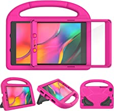 TIRIN Kids Case for Samsung Galaxy Tab A 8.0 2019 Without S Pen Model(SM-T290/SM-T295), Built-in Screen Protector Shockproof Light Weight Handle Stand Case for Galaxy Tab A 8.0 Inch 2019 - Rose