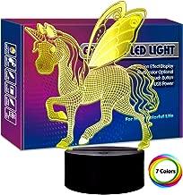 Animal Led Night Light 3D LED Table Lamp, 7colorful LED Gift 3D LED Illusion Lamp for Baby Boys Kids Children Teens Bedroom Decor Home Decoration Multi EA-Animal-Single