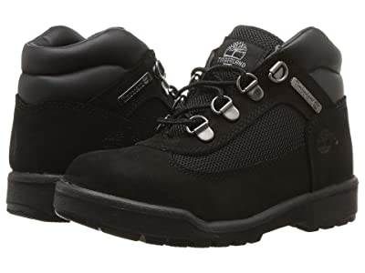 Timberland Kids Fabric/Leather Field Boot (Little Kid) (Black Waterbuck Nubuck) Kids Shoes