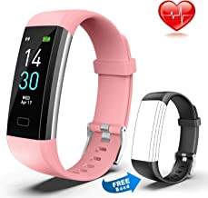 QTOPIA Fitness Tracker HR, Activity Tracker Watch with Heart Rate Monitor, Waterproof Smart Fitness Band with Step Counter, Calorie Counter, Pedometer Watch for iOS Android Phone