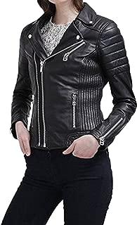 Kingdom Leather New Women Motorcycle Lambskin Leather Jacket Coat Size XS S M L XL XW520