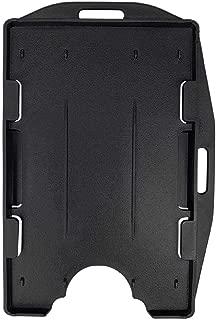 5 Pack ID Badge Holder Card Case Hard Plastic Clear 2 Side Heavy Duty Horizontal