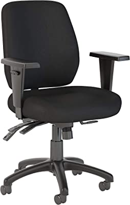 Bush Business Furniture Prosper Mid Back Multifunction Office Chair in Black Fabric