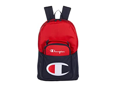 Champion LIFE Youth Supersize Backpack w/ Removable Lunch Kit (Red/Navy) Backpack Bags