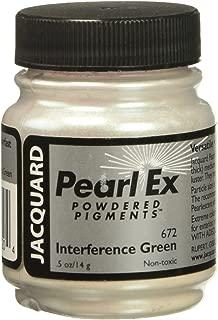 Jacquard JAC-JPX1672 Pearl Ex Powdered Pigment, 0.5 oz, Interference Green