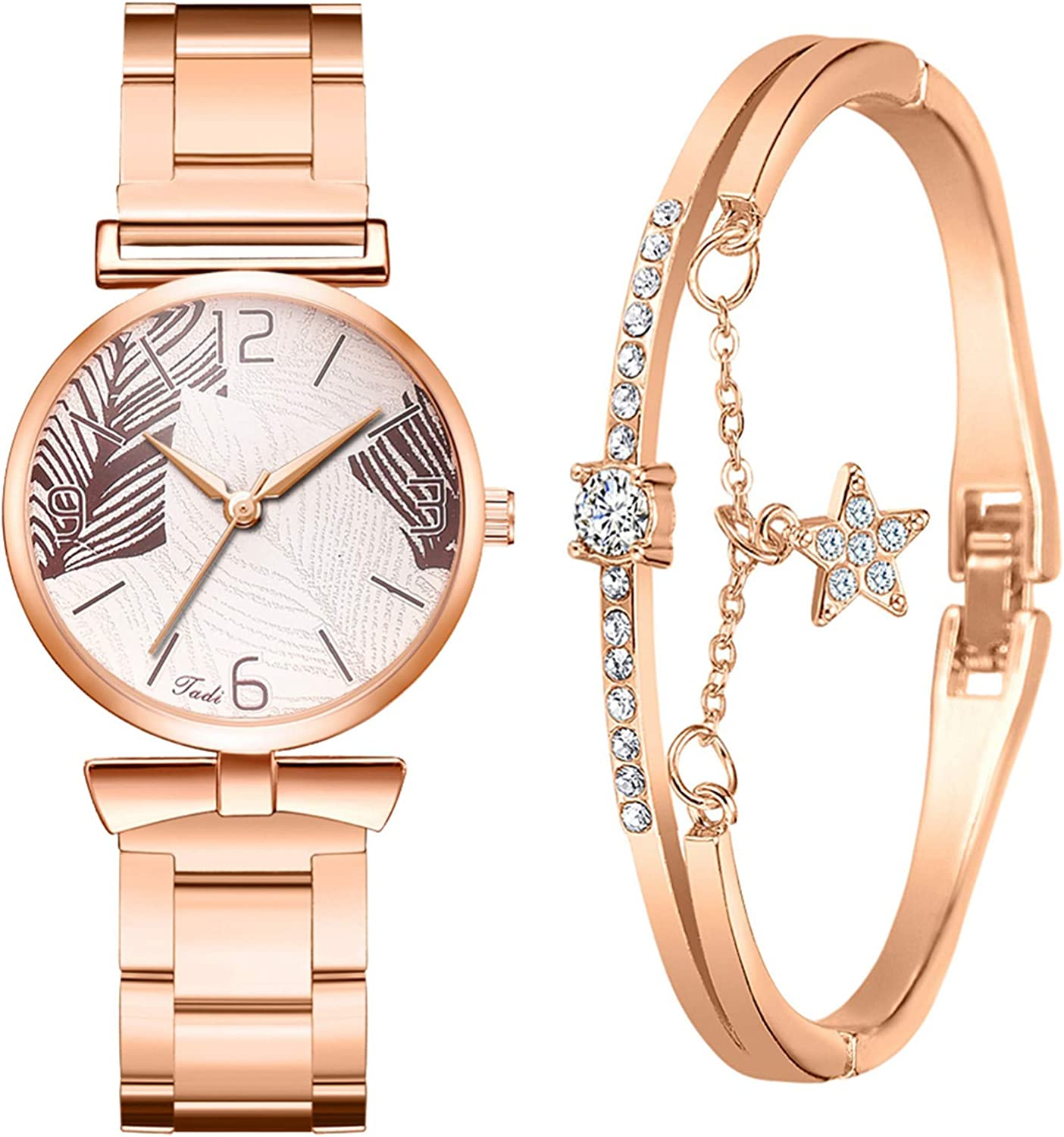 MINGE 2PC Valentine Albuquerque Mall Gift Women Bracelet Necklace Ele and 55% OFF Watches