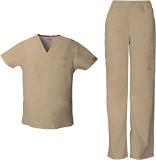 0be3a8ad8d4 Dickies EDS Signature Men's V-Neck Scrub Top 81906 & Men's Zip Fly Pull-