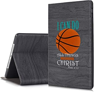 [Inkmodo] - Black Slim Tree Texture Stand Case for iPad Mini 4 - Basketball Christian Quote Teen Girls - Design Printed Full Protective Cover with Two Angle Stand.