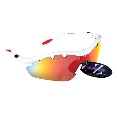 b1fe66ce46d Professional Cycling Sunglasses for Men and Women by RayZor. Lightweight Biking  Sports Wrap Eyewear.