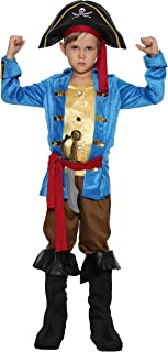 Boys Pirates Costumes Kids Skull Buccanner Halloween Pirate Captain Costume Sets