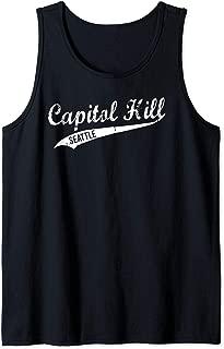 Seattle Retro Capitol Hill Neighborhood Vintage Design Tank Top