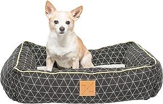 MOG & BONE Bolster Dog Bed Pitch Triangle Print Large