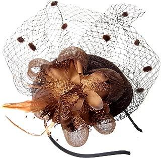 Fascinator Hats Pillbox Hat British Bowler Hat Flower Veil Wedding Hat Tea Party Hat