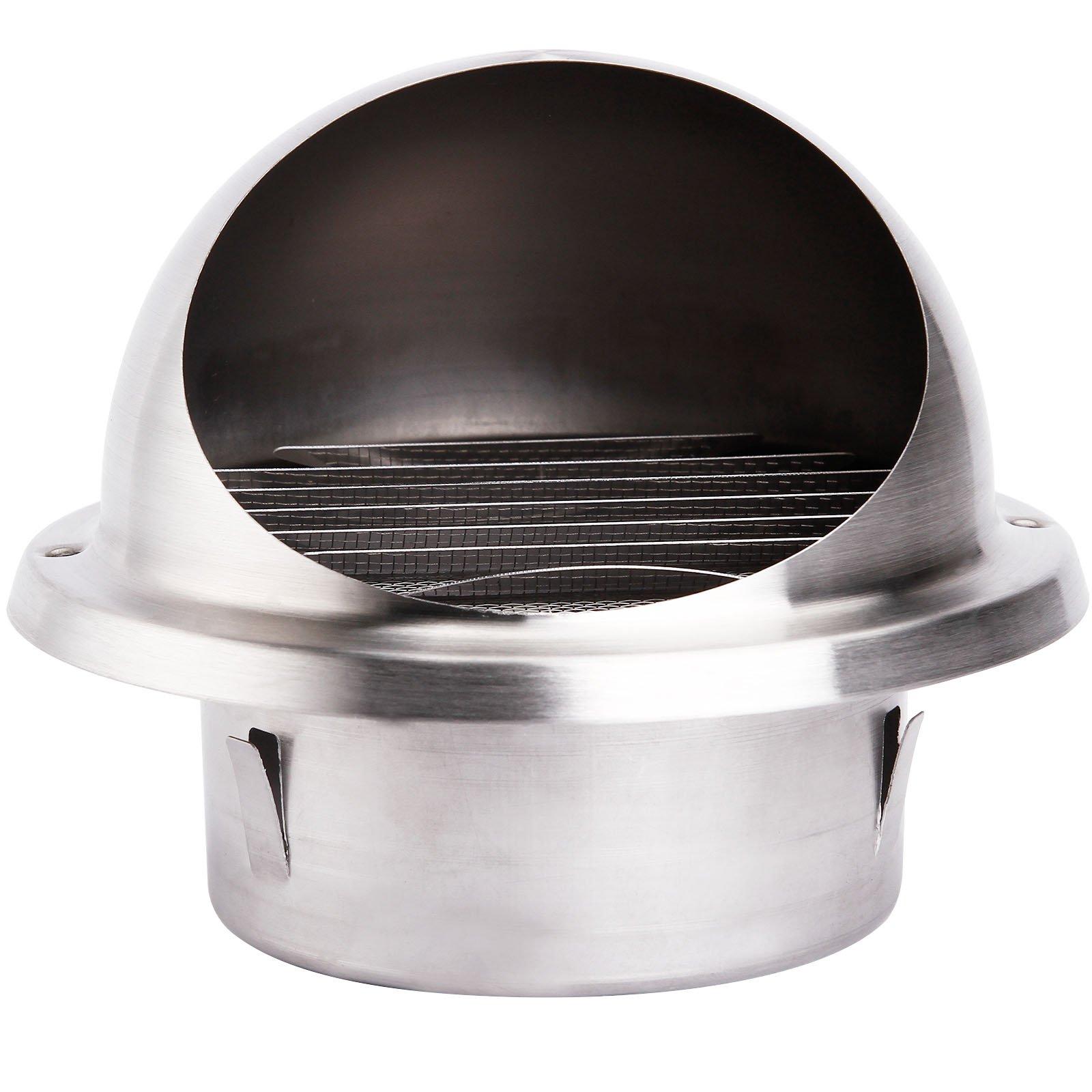 Rejilla de Ventilación Exterior Rejilla de Acero Inoxidable 100mm 125mm 150mm (globoso 100mm): Amazon.es: Bricolaje y herramientas