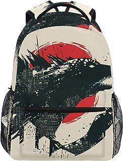Godzilla - Mochila informal con dinosaurios para estudiantes, mochila de viaje, senderismo, camping, portátil