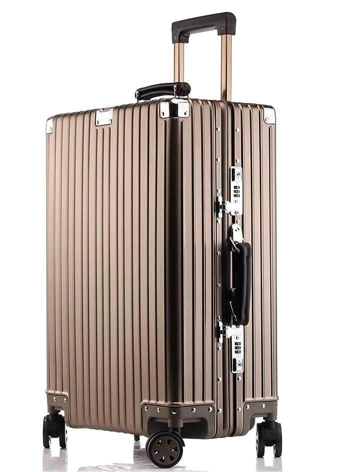 反論ラフ抑制するJINXIANGMEI アルミニウムマグネシウム合金スーツケース 機内持ち込みスーツケース 預け入れスーツケースTSAロック キャスター 海外旅行5色3サイズ1802