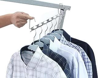 nobrand Waller PAA Magic Clothes Closet Metal Wonder Hangers Organizer-Set of 6 Clothing
