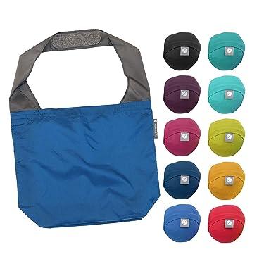 FLIP AND TUMBLE 24-7 Premium Reusable Grocery Bag - Perfect Shopping Bag, Beach Bag, Travel Bag (Royal Blue)