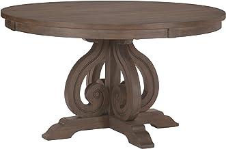 "Homelegance 54"" Round Dining Table, Dark Pewter"