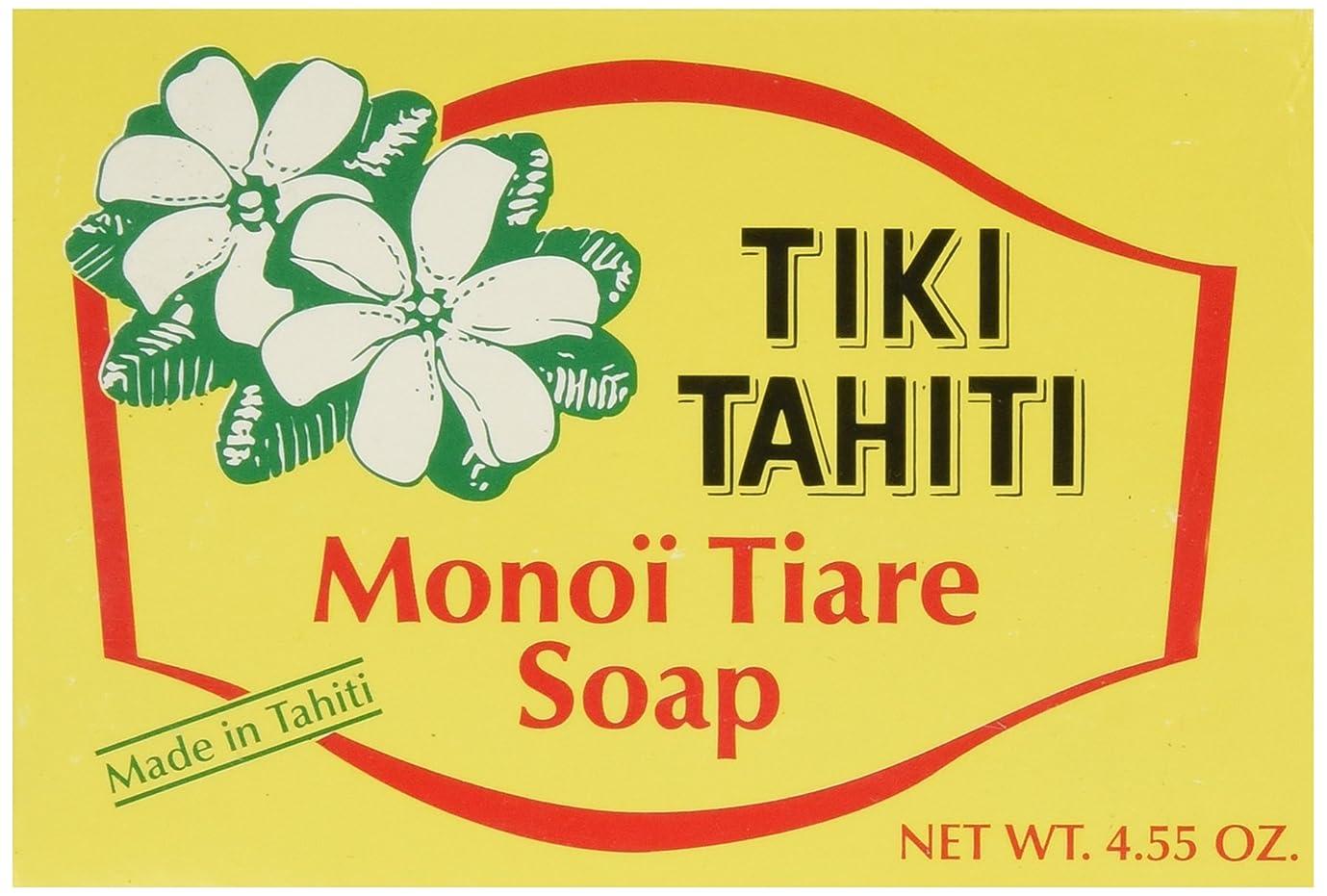 アイザック砂漠に勝るMonoi Tiare Tahiti, Coconut Oil Soap, Tiare (Gardenia) Scented, 4.55 oz (130 g)