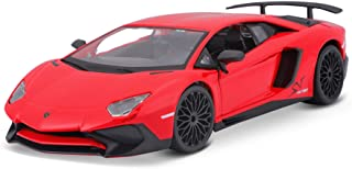 Bauer Spielwaren 18 21079 Lamborghini Aventador SV Coupe Modellauto im Maßstab 1:24, rot