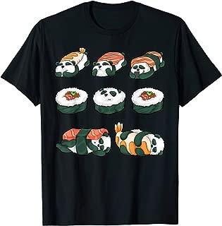 Panda Sushi Hug Cute Animal Maki Lover Funny Food Gift T-Shirt