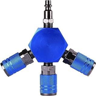 WYNNsky 3-Ways Flat Hex Manifold Air Connector,Air Hose Splitter Coupler, 1/4