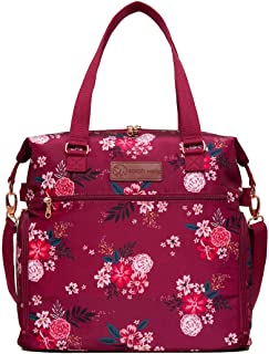 Sarah Wells Lizzy Breast Pump Bag (Berry Bloom)